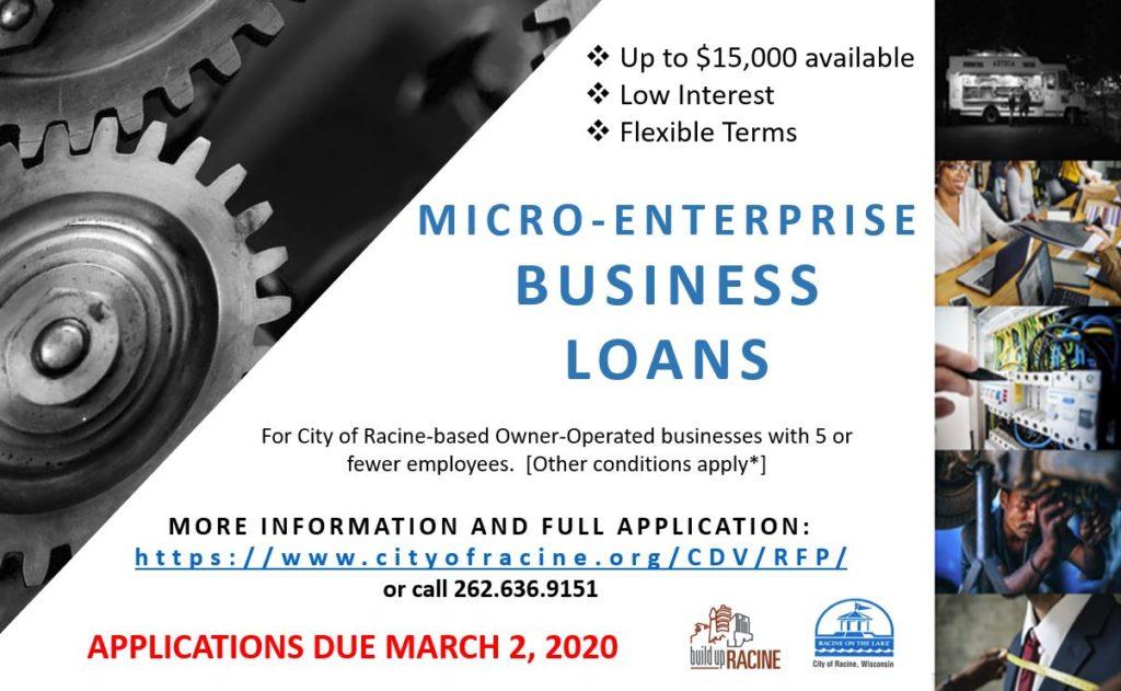 micro enterprise business loan racine
