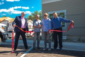 granary townhomes ribbon cutting