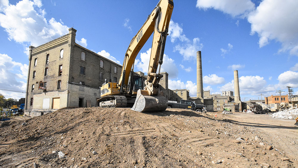 Construction at City of Racine Horlick District